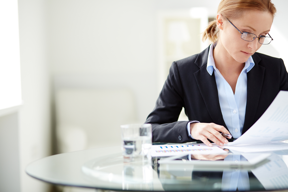 woman work office business corporate