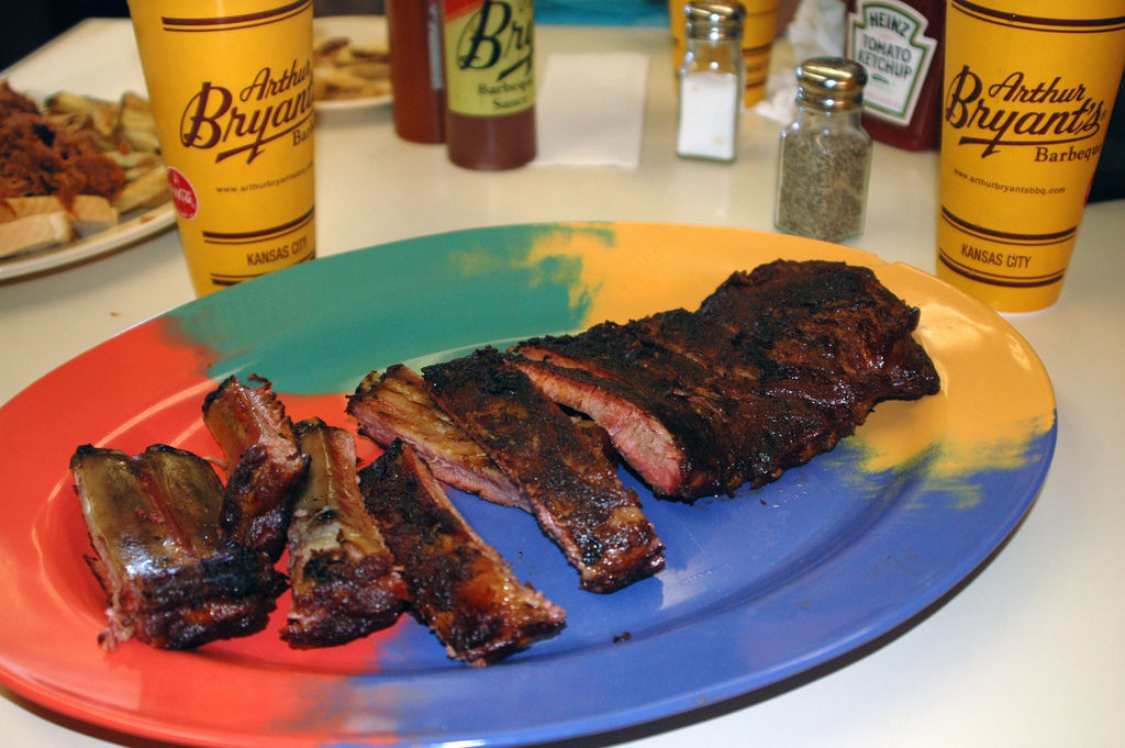 BBQ spare ribs at Arthur Bryant's. Mike Willis / Flickr.