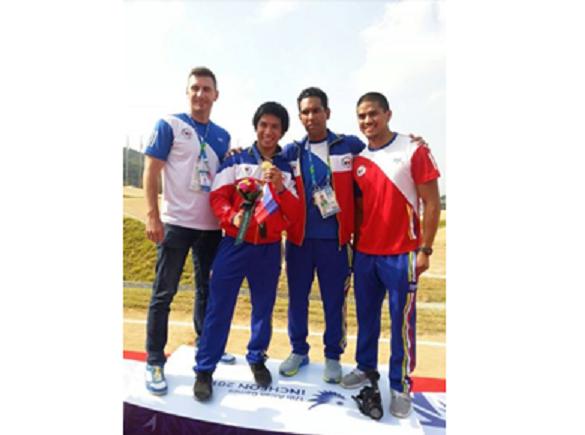 Daniel Patrick Caluag at the 2014 Asian Games (Photo courtesy of PhilippineSports.net)