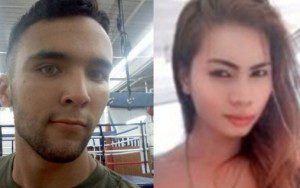 "US Marine Joseph Scott Pemberton (left) and Jeffrey ""Jennifer"" Laude"
