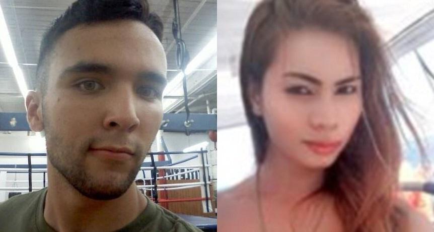 "US Marine Joseph Scott Pemberton (left) and victim Jennifer ""Jennifer"" Laude"