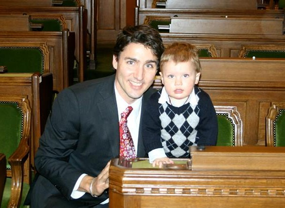 """""""Hard to believe Xav is already turning seven this Saturday. Where did the time go! #TBT"""" posted Liberal Leader Justin Trudeau on his Facebook page."""