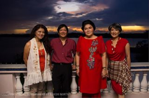 "The Marcos Family at the Malacañang. From left to right: Ilocos Norte Gov. Imee Marcos, Sen. Ferdinand ""Bongbong"" Marcos, Jr., 2nd District of Ilocos Norte Rep. Imelda Romualdez-Marcos and Irene Marcos-Araneta. PGIN-CMO Photo / Alaric A. Yanos (Photo taken from Imee Marcos Facebook account)"
