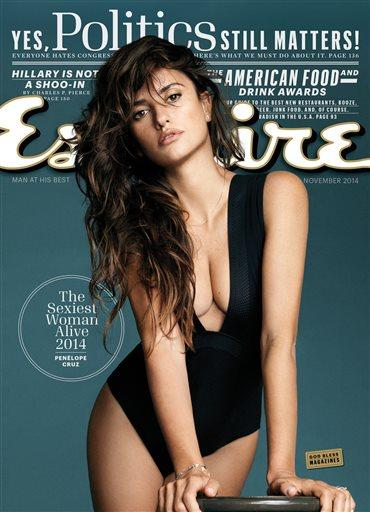 Penelope Cruz: Sexiest Woman Alive of 2014 (Photo courtesy of Esquire)