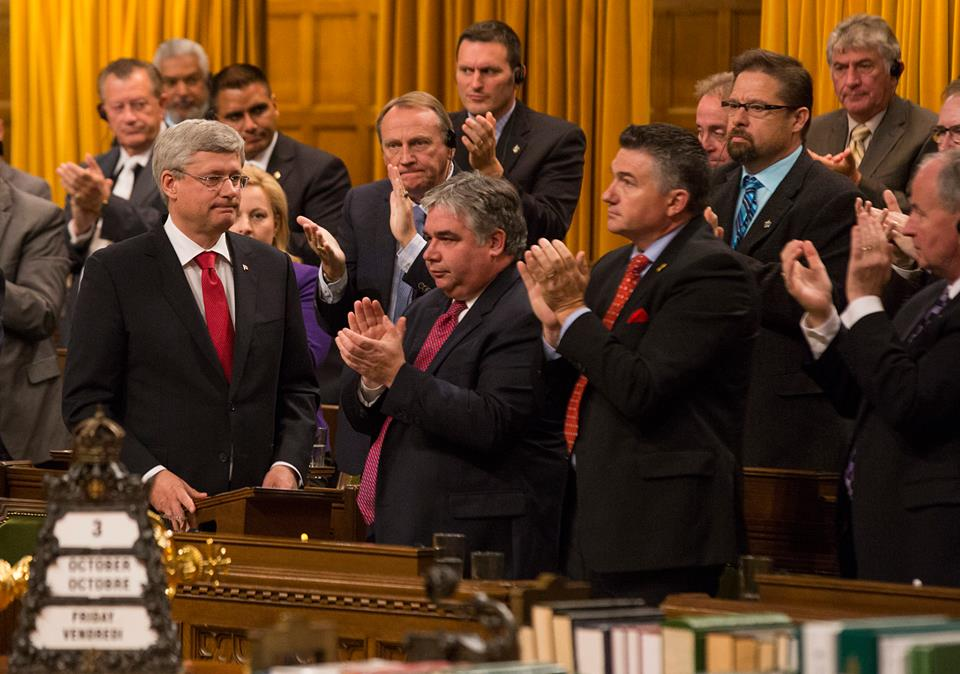 """Today I brought forward a motion on Canada's contribution, in coordination with our allies, to the fight against the Islamic State of Iraq and the Levant (ISIL) in the House of Commons."" Photo and caption courtesy of PM Stephen Harper's official Facebook page."