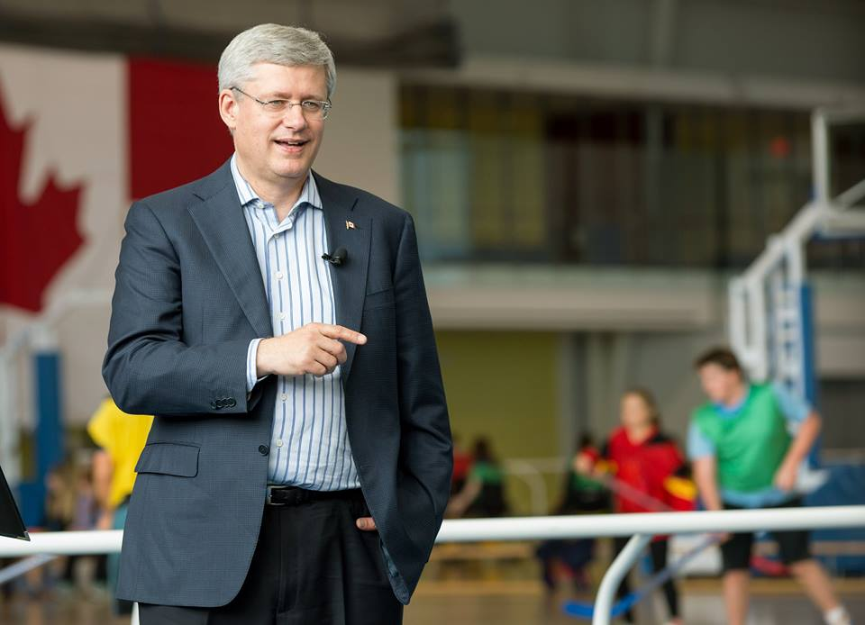PM Harper in Whitby (Photo courtesy of PM Stephen Harper's official Facebook page.)