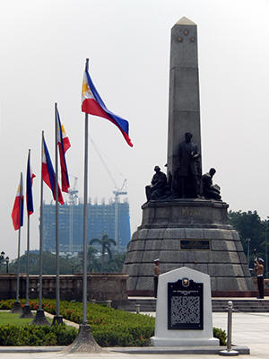 DMCI's Torre de Manila clearly visible behind the Rizal Monument (Photo courtesy of Senate of the Philippines)
