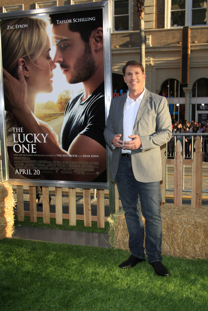 Nicholas Sparks at the premiere of Warner Bros. Pictures' 'The Lucky One'. Phil Stafford / Shutterstock.com.