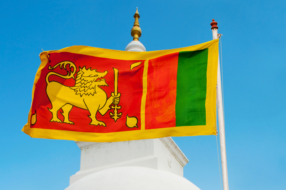 Flag of Sri Lanka (ShutterStock)