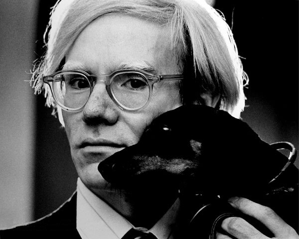 Portrait of Andy Warhol by Jack Mitchell. Wikimedia Commons