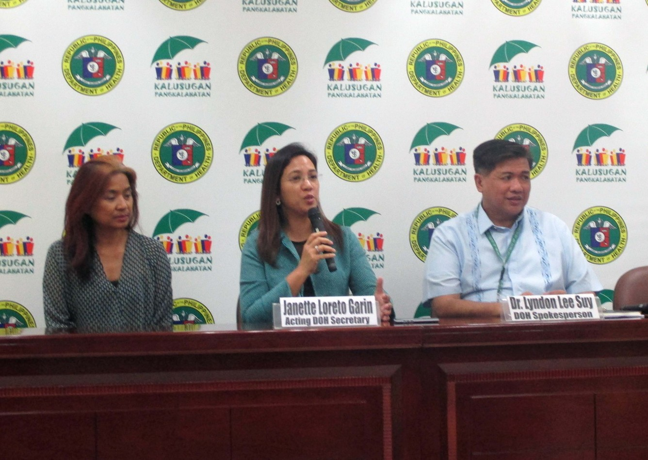DOH Acting Sec. Garin (PNA Photo)