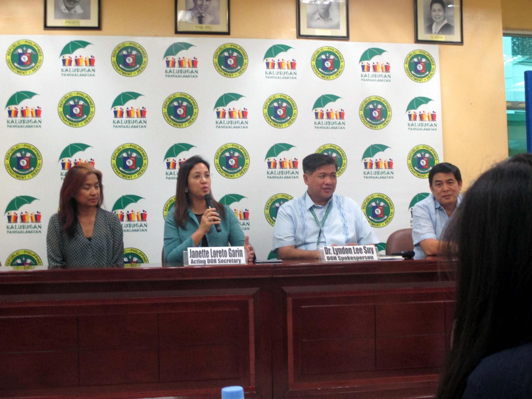 DOH Acting Sec. Garin (PNA Photo)