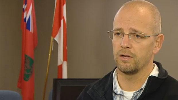 Morris Mayor Gavin Van Der Linde (Screengrab from CBC footage)
