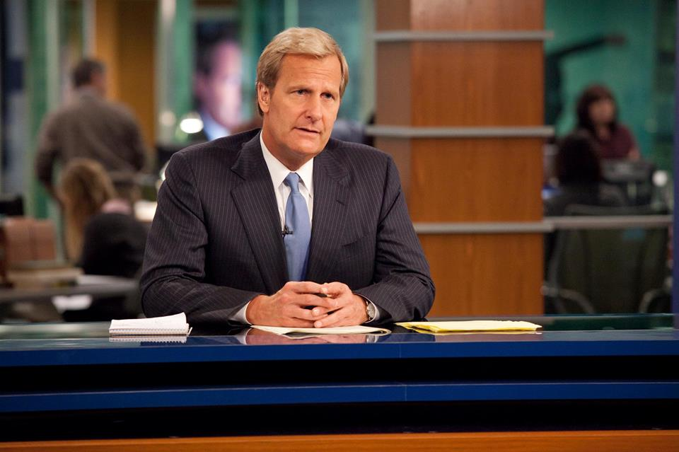 Jeff Daniels as anchor Will McAvoy on HBO hit 'The Newsroom'
