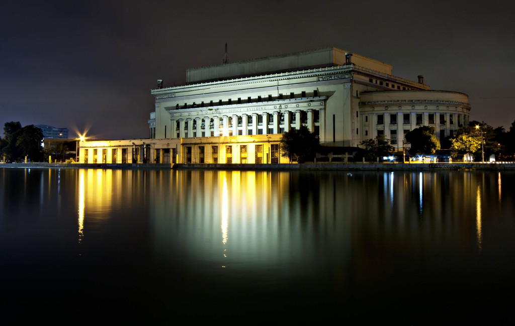 Manila Central Post Office at night (Wiki Commons)