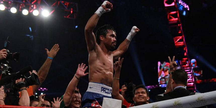 MANNY PACQUIAO retains his welterweight title. Photo courtesy of @HBOboxing on Twitter