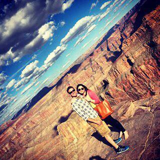 "Bittany and her husband, Dan Diaz, trekking the Grand Canyon; one of the items on her ""bucket list.""  She captioned this Facebook photo, dated October 22, ""Grand Canyon, Oct 2014 Beautiful day with my loving family in one of the world's most fabulous natural wonders. Many moments that simply took my breath away on a gorgeous helicopter ride."""