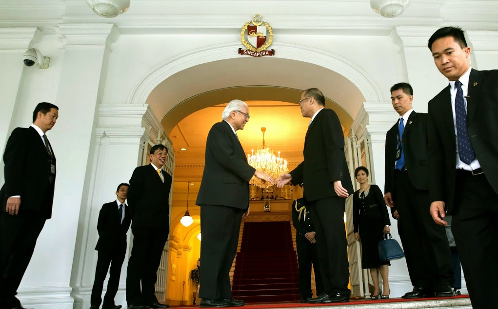 President Benigno S. Aquino III graces luncheon hosted by Singapore President Tony Tan Keng Yam at the Yusof Room of the Istana main building for his working visit to Singapore on Tuesday (November 18). (Photo by Gil Nartea / Malacañang Photo Bureau)