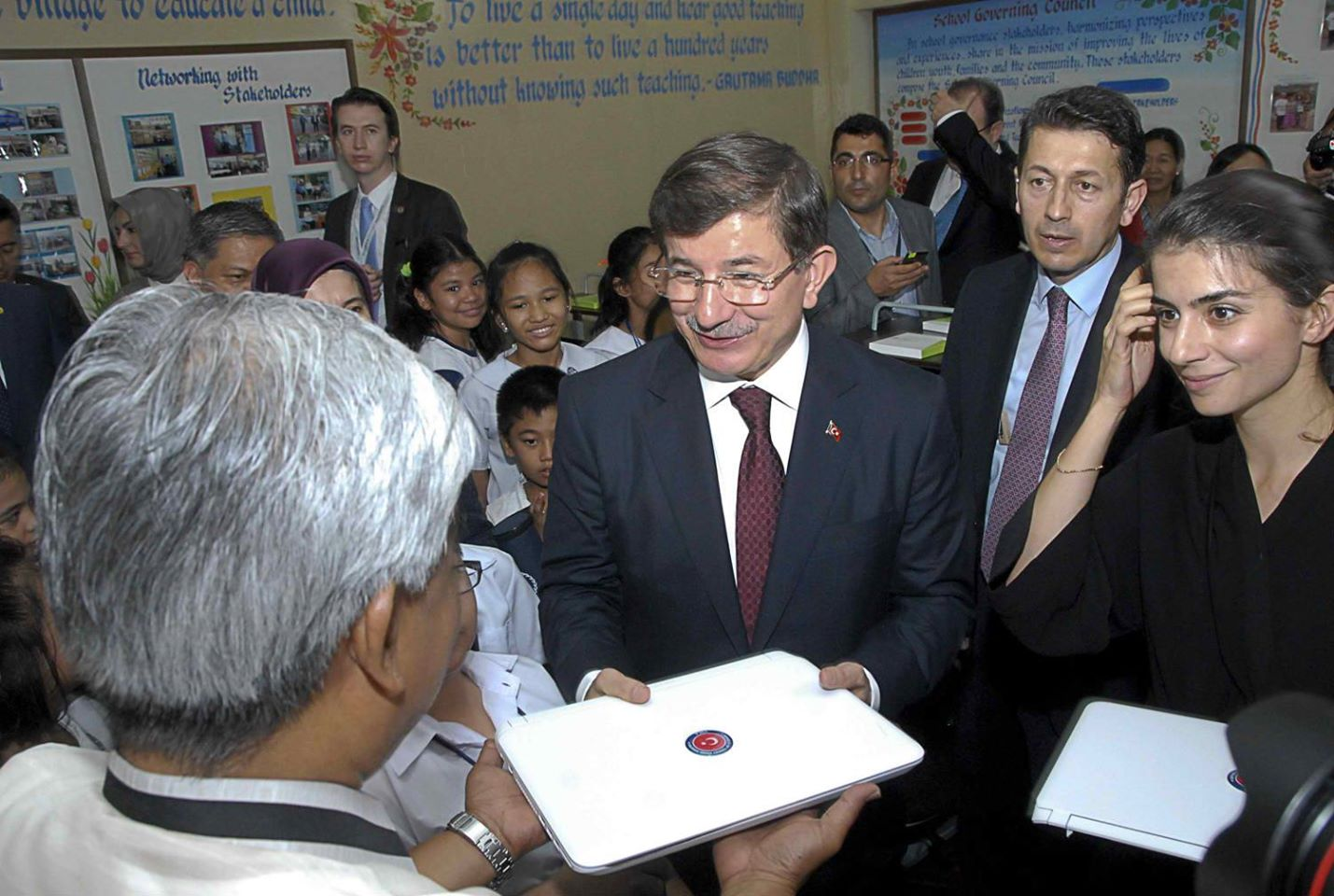 The Turkish International Cooperation and Development donated computer packages to the Department of Education to boost the computerization program in schools nationwide (Malacanang Photo Bureau)