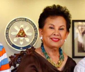 Former Makati City Mayor Elenita Binay, wife of Vice President Jejomar 'Jojo' Binay and mother of incumbent Makati City Mayor Jun-Jun Binay (Facebook Photo)