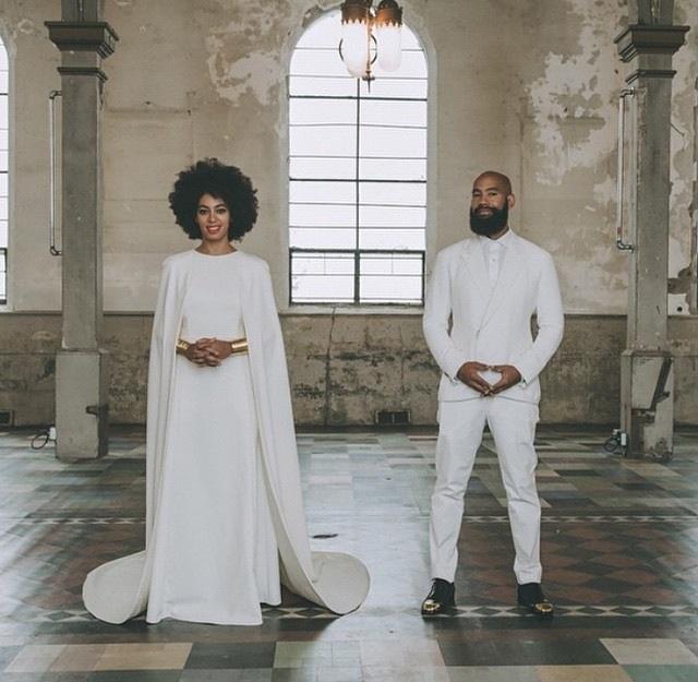 Newlyweds: Alan Ferguson and Solange Knowles