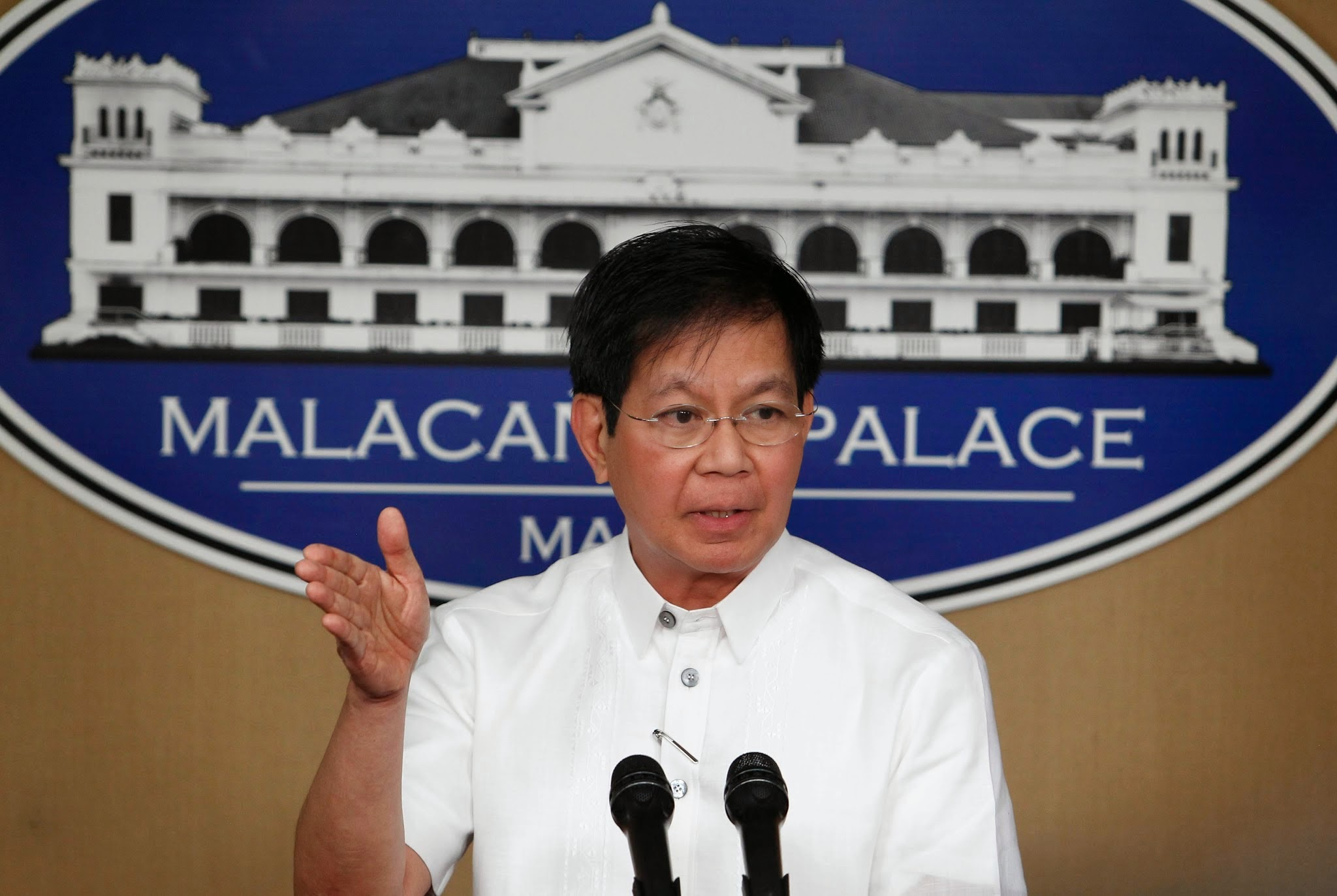 """Count me out. I'm not interested,"" Lacson said. (Photo by Benhur Arcayan/Malacañang Photo Bureau)"