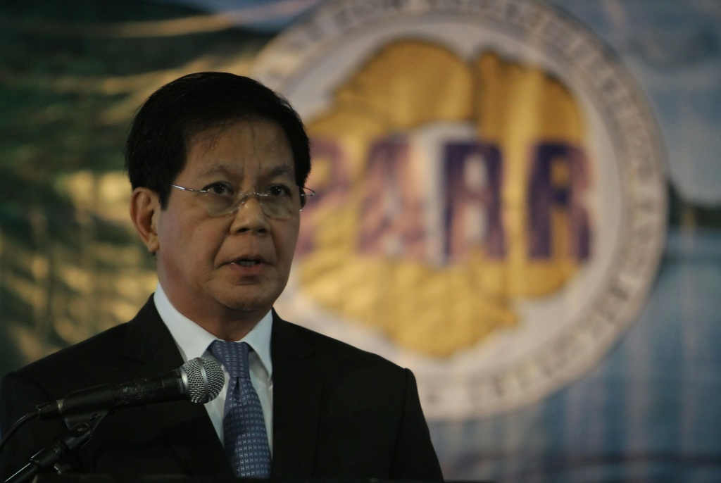 Presidential Adviser on Reconstruction and Rehabilitation Panfilo M. Lacson stresses a point on rehabilitation work in areas hit by Typhoon Yolanda (Haiyan) during a forum in Makati City on Thursday (January 23). (Photo by Robert Viñas / Malacañang Photo Bureau)