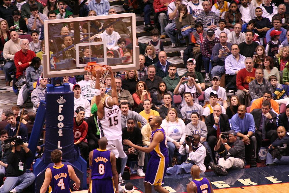 Vince Carter dunking. Mike Liu / Shutterstock.com.
