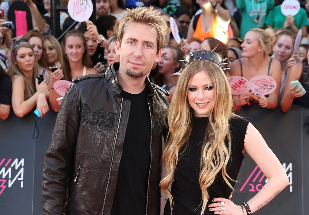 Chad Kroeger and Avril Lavigne at the 2013 MMVA's (MuchMusic Video Awards) in Toronto. Brian Patterson Photos / Shutterstock.com.