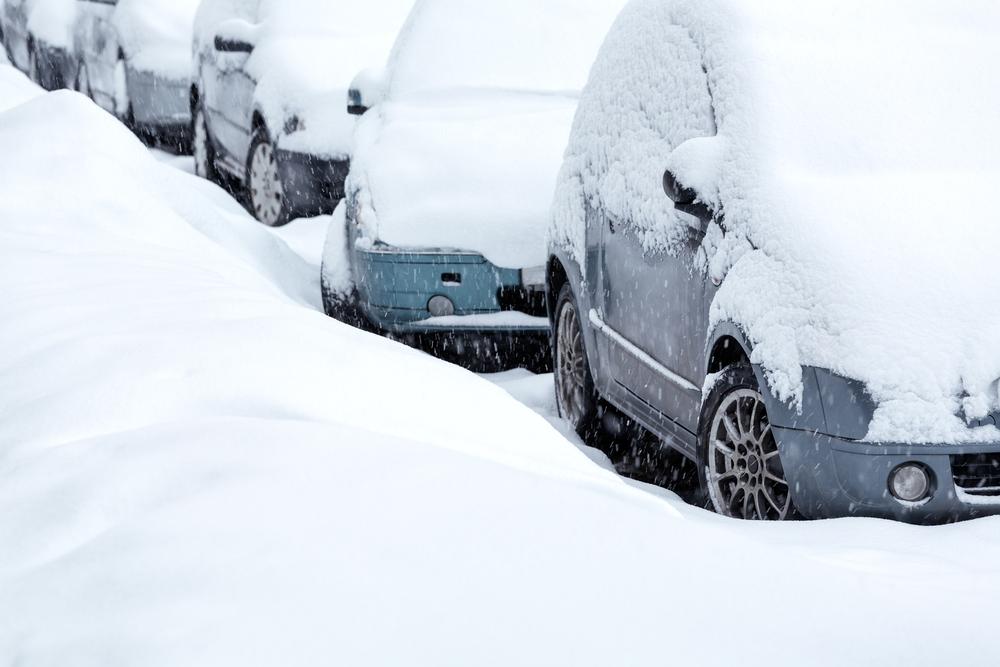 snow road car