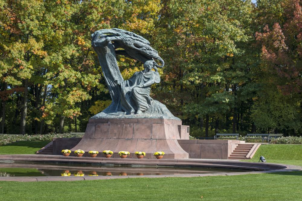 Polish pianist Frederic Chopin monument in Lazienki Park, Warszawa, Poland (Shutterstock)