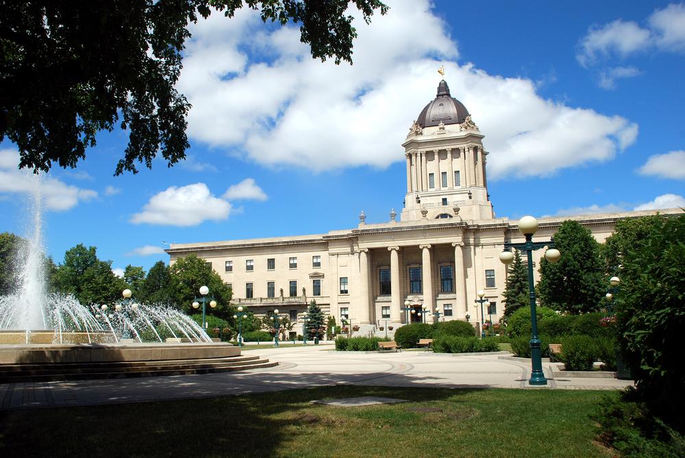 Manitoba Legislative Building in Winnipeg, Manitoba (ShutterStock)