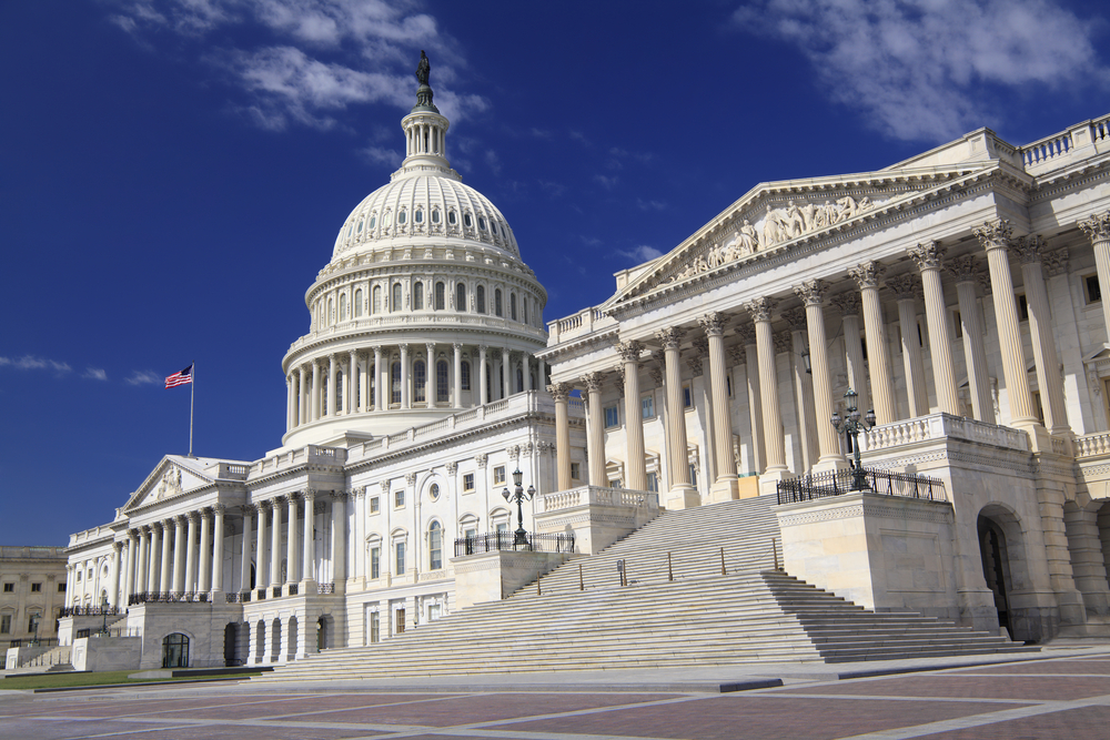 The eastern facade of the US Capitol Building, Washington DC (Shutterstock)