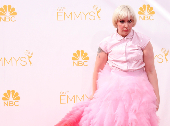 Lena Dunham at the 2014 Primetime Emmy Awards - Arrivals at Nokia Theater at LA Live on August 25, 2014 in Los Angeles, CA (Helga Esteb / Shutterstock)