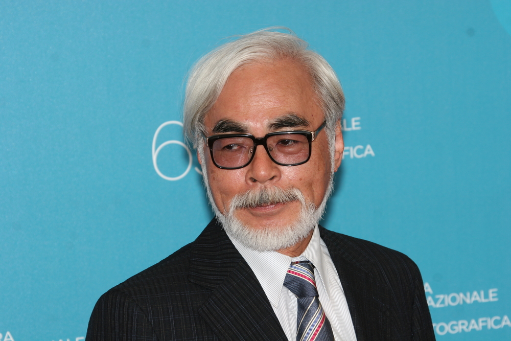 Director Hayao Miyazaki attends the 'Ponyo on the cliff by the Sea' photocall at the Piazzale del Casino during the 65th Venice Film Festival on August 31, 2008. (cinemafestival / Shutterstock)