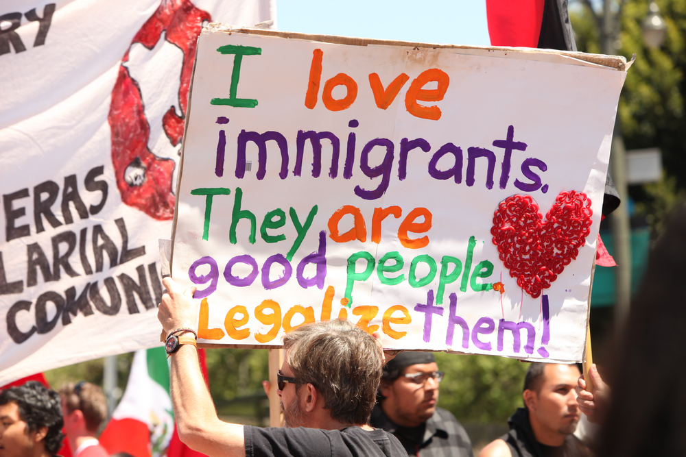 In 2010, the May Day Immigration Protest Rally was held to fight against Arizona's new law in Los Angeles, California. tobkatrina / Shutterstock.com.