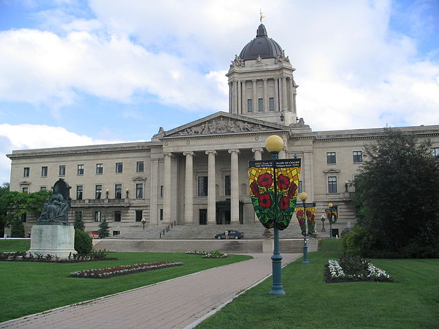 Manitoba Legislative Building, Winnipeg, Manitoba.