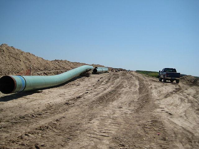 Keystone 30-inch pipeline (phase 1) near Swanton, Nebraska in 2009. shannonpatrick17 / Flickr.