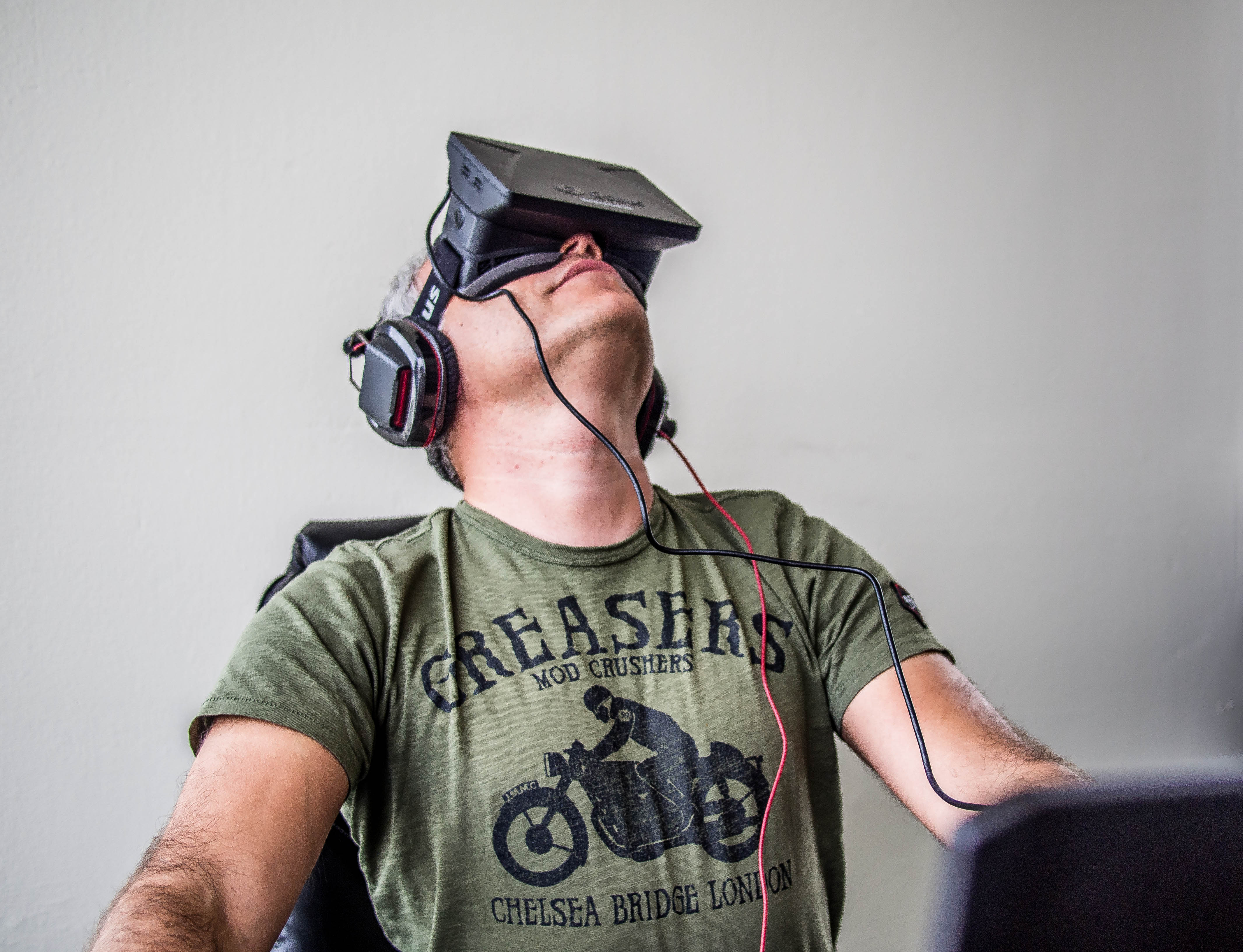 Virtual reality through technology such as the Oculus VR is part of a booming wearable technology industry that took steps toward a big breakout in 2014, but it's really expected to explode in 2015. Wikimedia Commons.
