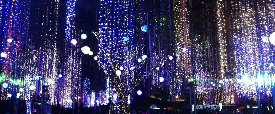 The lights of Ayala Triangle Garden (Photo courtesy of Ayala Triangle website)