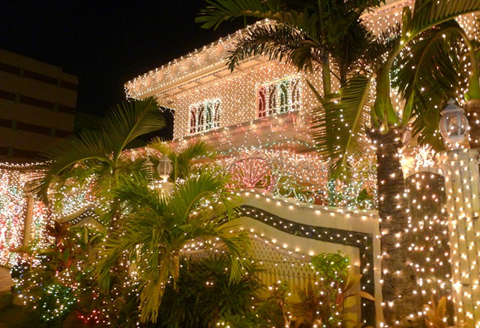 The famous Christmas house in Policarpio Street (Photo courtesy of Leah De Leon)