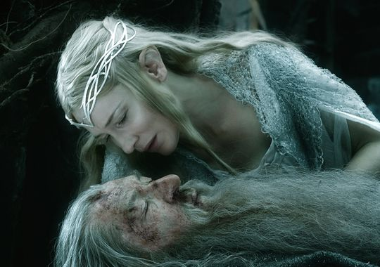 Lady Galadriel and Gandalf the Great (Photo from 'The Hobbit' Facebook page)