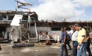 Pres. Benigno Aquino III and DILG Sec. Mar Roxas inspect Tacloban Airport after Supertyphoon 'Yolanda' (International name 'Haiyan') Photo courtesy of the Malacanang Photo Bureau