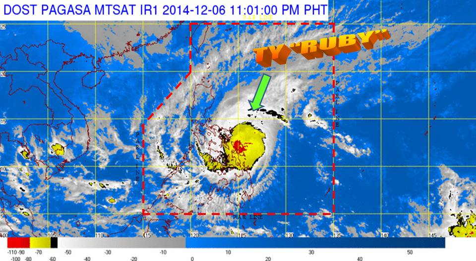 ruby hagupit 11pm dec 6
