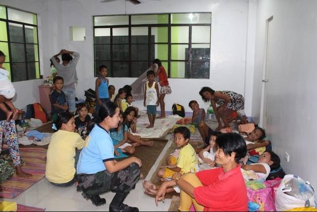Information dissemination and evacuation held in provinces affected by Typhoon 'Ruby' (via PNP Facebook page; photo courtesy of local police stations)