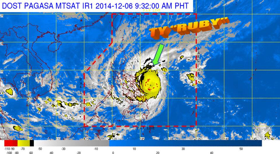 Satellite image from DOST PAGASA