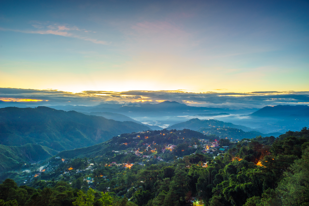 Misty blue hour as seen from Mines View Park in Baguio City (shutterstock)