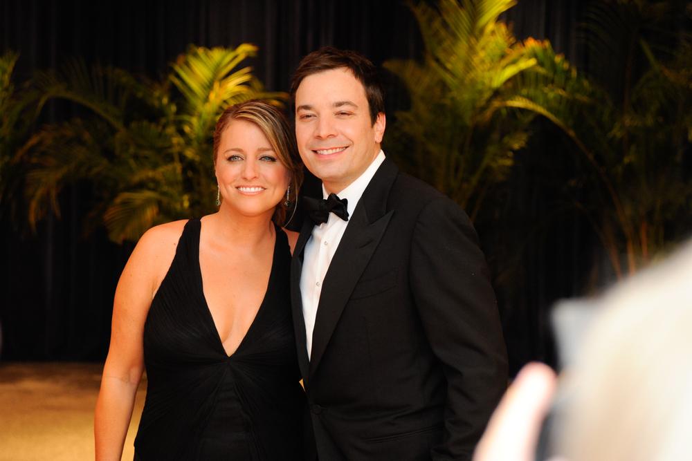 Jimmy Fallon and wife Nancy Juvonen. Rena Schild / Shutterstock.com.