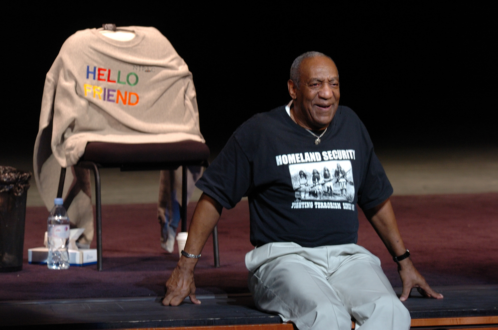Comedian Bill Cosby performs on stage at the New Jersey Performing Arts Center (Eugene Parciasepe / Shutterstock)