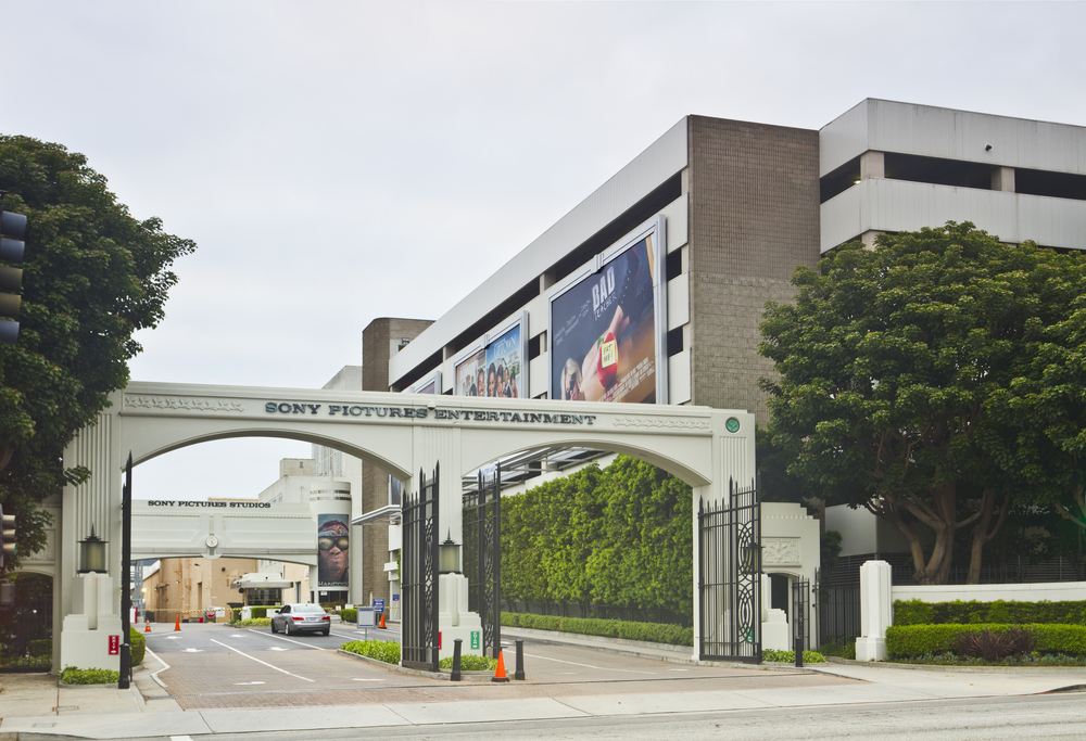 The Culver City east gate of Sony Pictures Entertainment in Los Angeles, California (Gerry Boughan / Shutterstock)